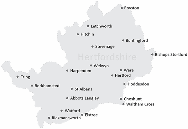 Herts Border Map