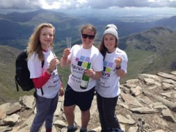 Girls at top of Mount Snowden