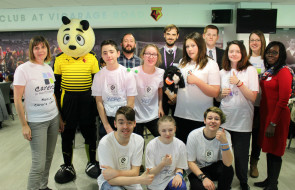 Young Carers Council organisers plus mascots and guests (2)